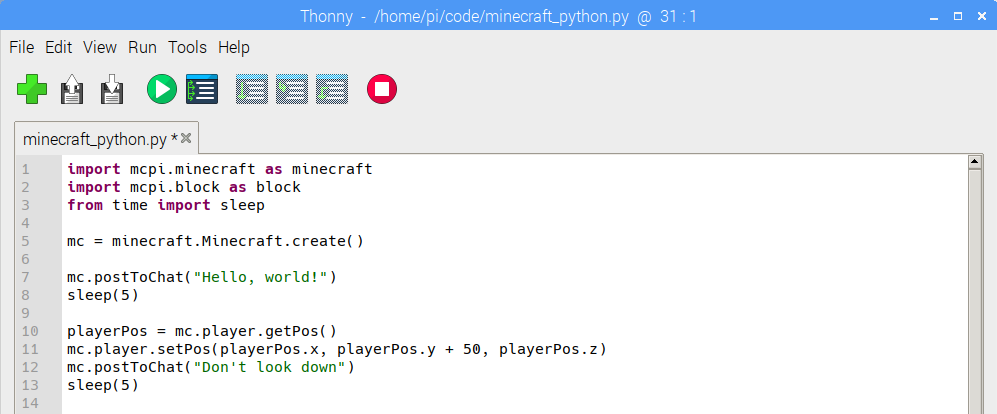 RPi Minecraft + Python Introduction – T³ Alliance – Teaching Through