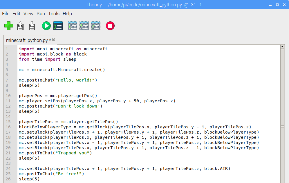 RPi Minecraft + Python Introduction – T³ Alliance – Teaching
