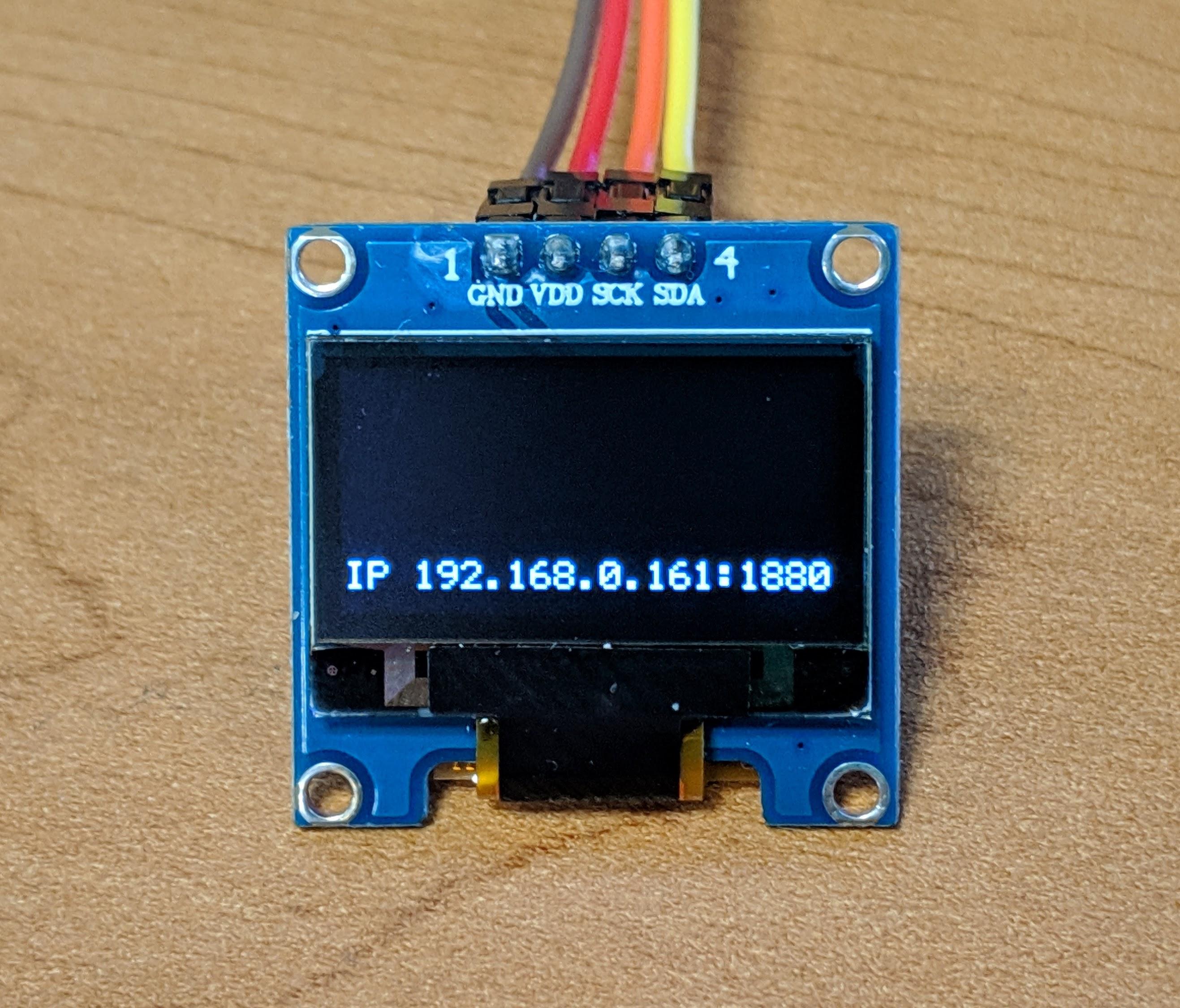 RPi-NodeRed OLED IP Address Display