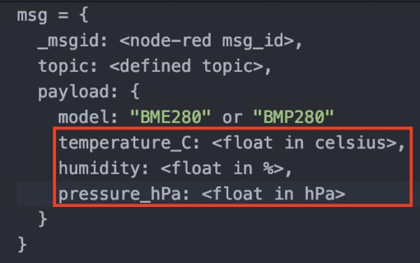 BME280 JSON Data